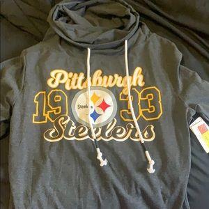 Cowl neck Steelers Sweatshirt
